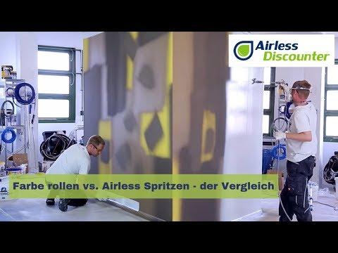 Gut bekannt Farbe rollen vs. Airless Spritzen - der Vergleich - YouTube NH95
