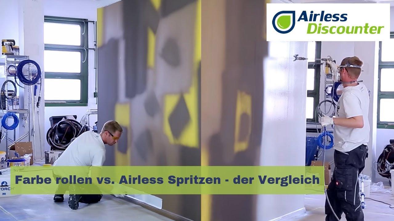 farbe rollen vs. airless spritzen - der vergleich - youtube