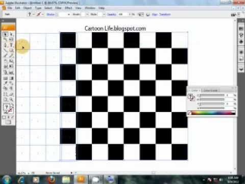 illustrator chess board tutorial - YouTube
