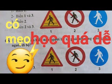 Mẹo học 35 câu hỏi về biển báo  / thi sát hạch lái xe A1
