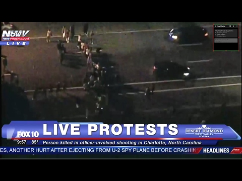 BREAKING LIVE NEWS: PROTESTS IN CHARLOTTE - Riots - Looting - Property Damage - 09/20/16