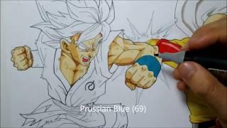 Como dibujar a GOKU vs SAITAMA celebración 30k suscriptores. How to draw GOKU vs SAITAMA