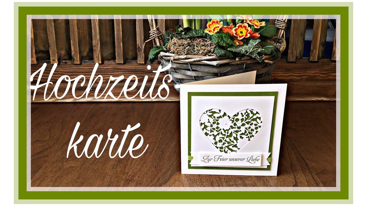 Stampin Up Quick Tipp 2 Hochzeitskarte Bluhendes Herz Anleitung