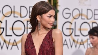 Zendaya Slays 2016 Golden Globes Red Carpet In Burgundy Gown
