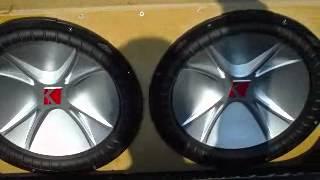 2 kicker cvr 15 s hifonics 2000d custom enclosure memphis m class pioneer optima flex