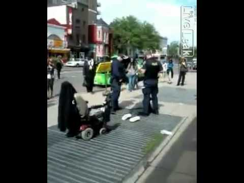 US Is The Most Opressed Society On Earth. Police Abuse & Beat An Elderly Wheel Chaired Man