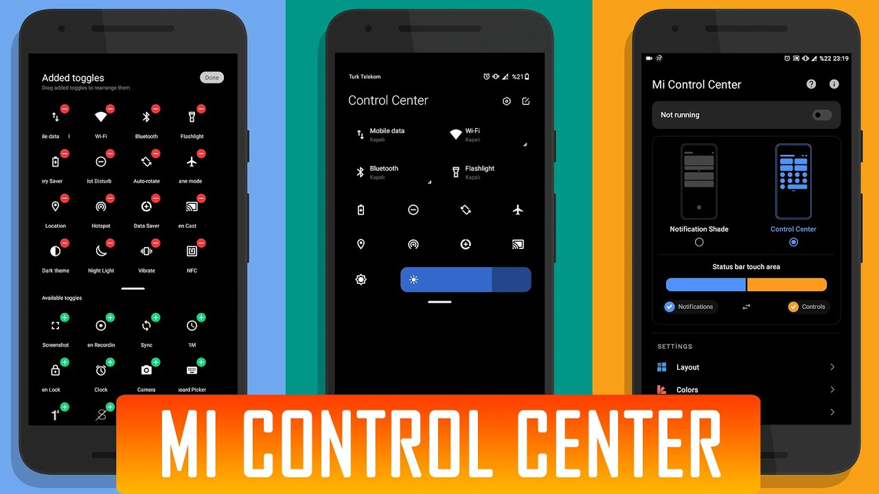 Mi Control Center App   Install MIUI 12 Control Center in Any Android Phone