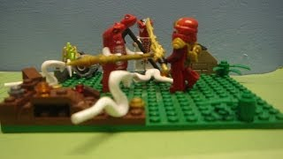 Lego Ninjago Stop Motion Fight- Kai Vs Fangdam- The Re-match
