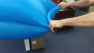 This video show that how to inflate the lazy bed/inflatable bag/ban...