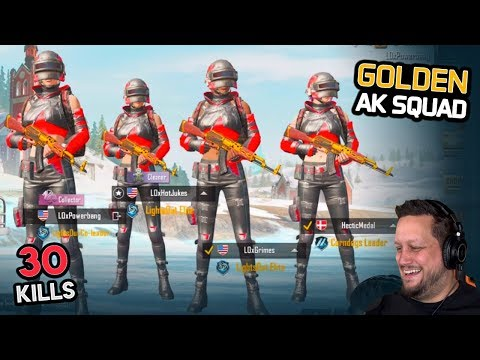 THE GOLDEN AK SQUAD - ERANGEL ELITE - PUBG Mobile