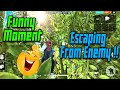 Escaping From One Squad Funny Moment   Garena Free Fire