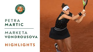 Petra Martic vs Marketa Vondrousova - Quarterfinals Highlights | Roland-Garros 2019