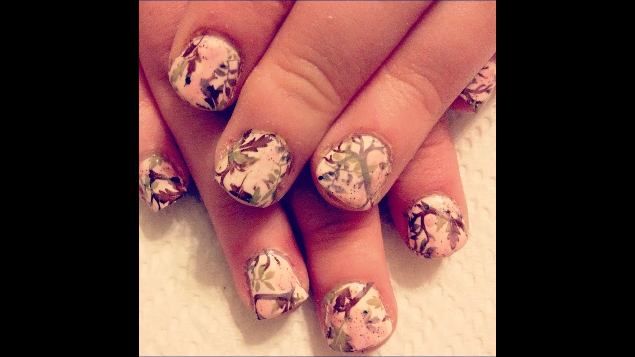 Pink Camo Nail Stamping Tutorial  YouTube