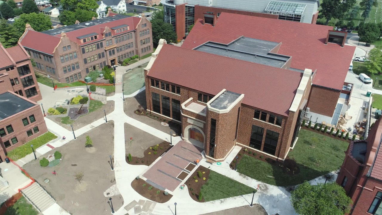 Millikin University Campus Map.University Commons From Above Millikin University Youtube