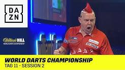 Wright und Anderson kämpfen ums Achtelfinale: World Darts Championship | Tag 11 - Session 2 | DAZN