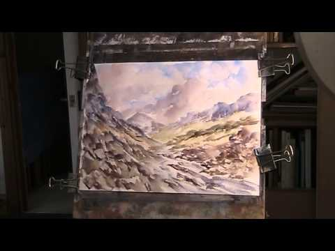 Rocky landscape using a French polisher's mop