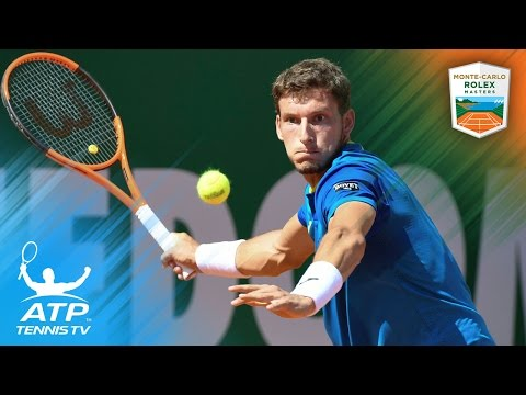 Carreno Busta crazy behind-the-back shot | Monte-Carlo Rolex Masters 2017 Day 2