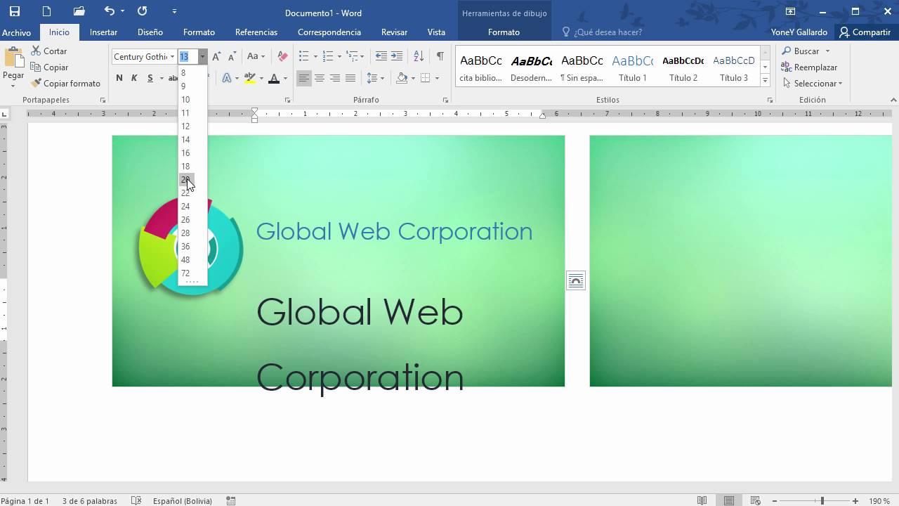 fb006dfc194a9 Cómo hacer una tarjeta de presentación en Word - YouTube