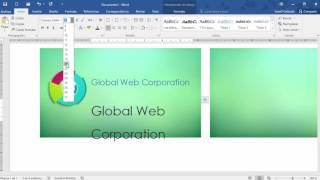 Cómo hacer una tarjeta de presentación en Word 2016