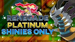 Beating Pokemon Renegade Platinum But I Can Only Use Shiny Pokemon! (Rom Hack)