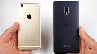iPhone 6 vs Nokia 6 Speed Test!