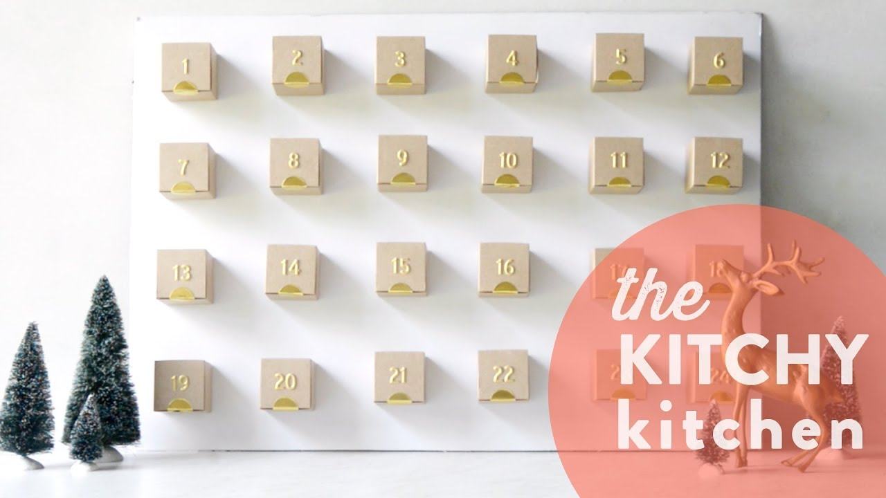 Diy Advent Calendar For Adults : Diy advent calendar the kitchy kitchen youtube