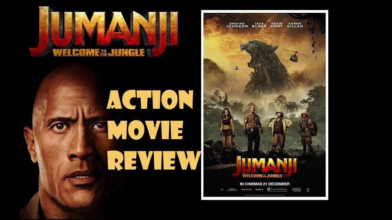 JUMANJI : WELCOME TO THE JUNGLE ( 2017 Dwayne 'The Rock' Johnson ) Action Movie Review