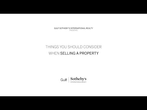 What should you consider when selling a property?