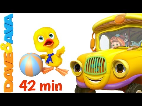 😉 The Wheels on The Bus - Part 3 | Dave and Ava | Nursery Rhymes and Baby Songs 😉