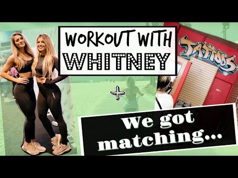 Working Out with Whitney Simmons | Grez & I Get Matching... | Vlog