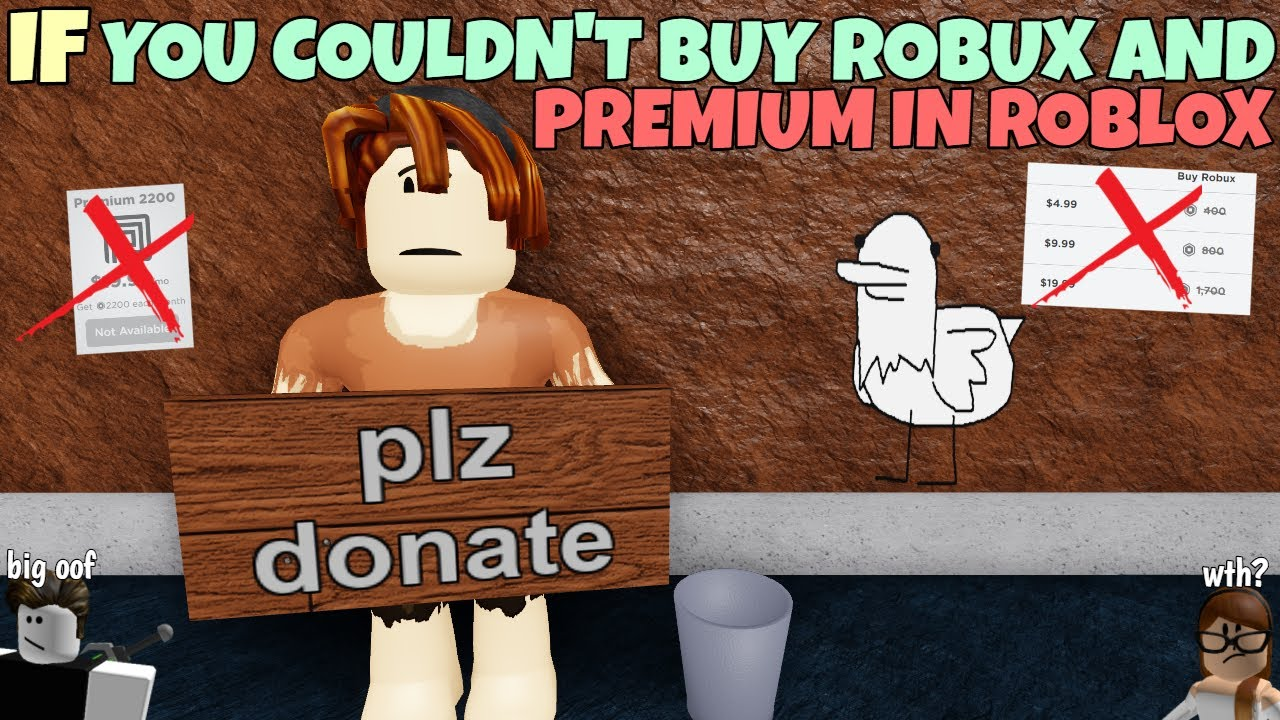 If You Couldn't Buy Robux And Premium In ROBLOX