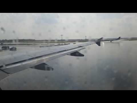 THUNDER SHOWER TAKE OFF - Lufthansa A319 @ Munich airport 60 fps