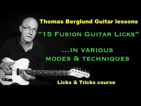 15 Fusion guitar licks - ...in various modes and techniques - Free e-Book available