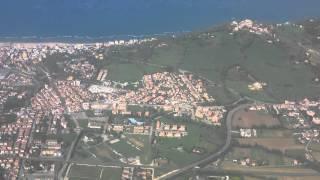 landing at the airport of Rimini