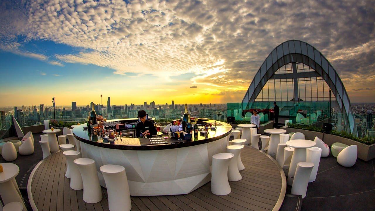 Cru Rooftop Bar At Centralworld Bangkok Youtube