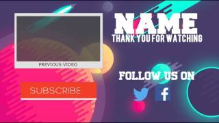 Outro Sony vegas Customizable Template|Tronarts