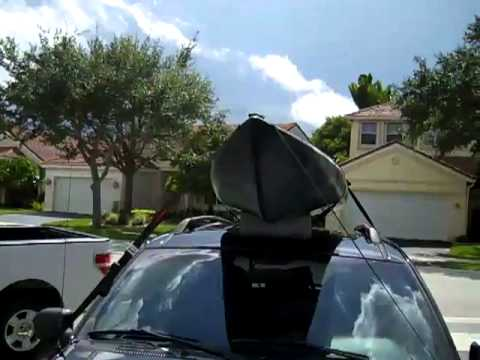 How To Load A Kayak On A Roof Rack Youtube