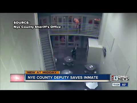 Nye County Sheriff's Office deputies save inmate's life