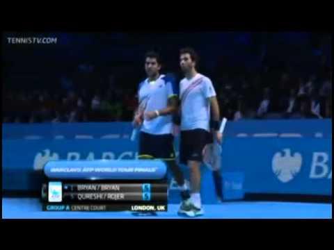 Bryan & Bryan Vs Qureshi & Rojer Barclays ATP World Tour Finals Group A Full Match