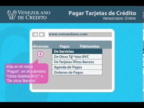 Pago de Tarjetas de Crédito por Venezolano Online del Venezolano de