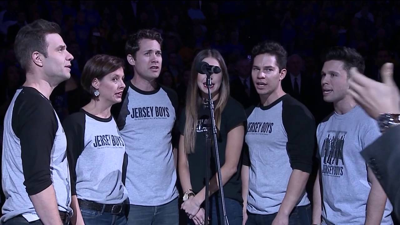 Jersey Boys sings National Anthem @ Golden State Warriors game