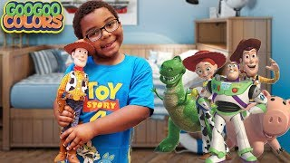 Where Are My Toy Story 4 Toys? (Hide and Seek Game With Goo Goo Colors)