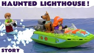 Scooby Doo LEGO Stop Motion Toy Story with Minions and Thomas & Friends   Haunted Lighthouse