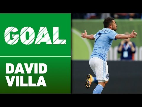 GOAL: David Villa Volleys in Pirlo Corner Kick