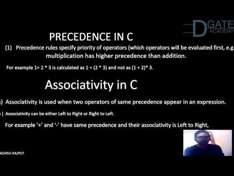 precedence and associativity in c