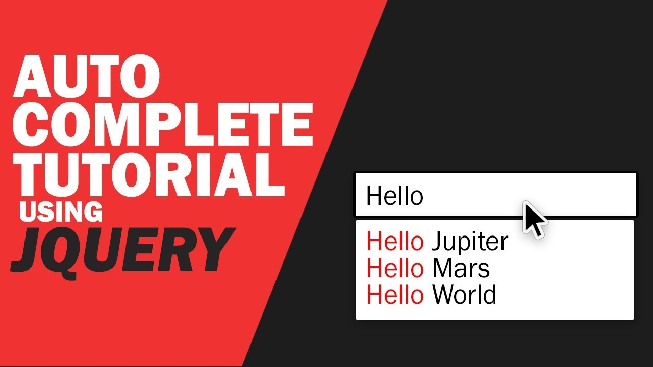 JQuery Autocomplete Tutorial - From Array