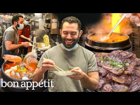 Andy Learns How to Cook Korean Food | Bon Appétit