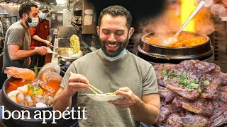 Andy Learns How to Cook Korean Food  Bon Appétit