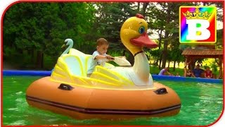 New FUN  Ducks walking on water in a Pool OUTDOOR PLAYGROUND playcenter for Kids at Bogdan`s Show