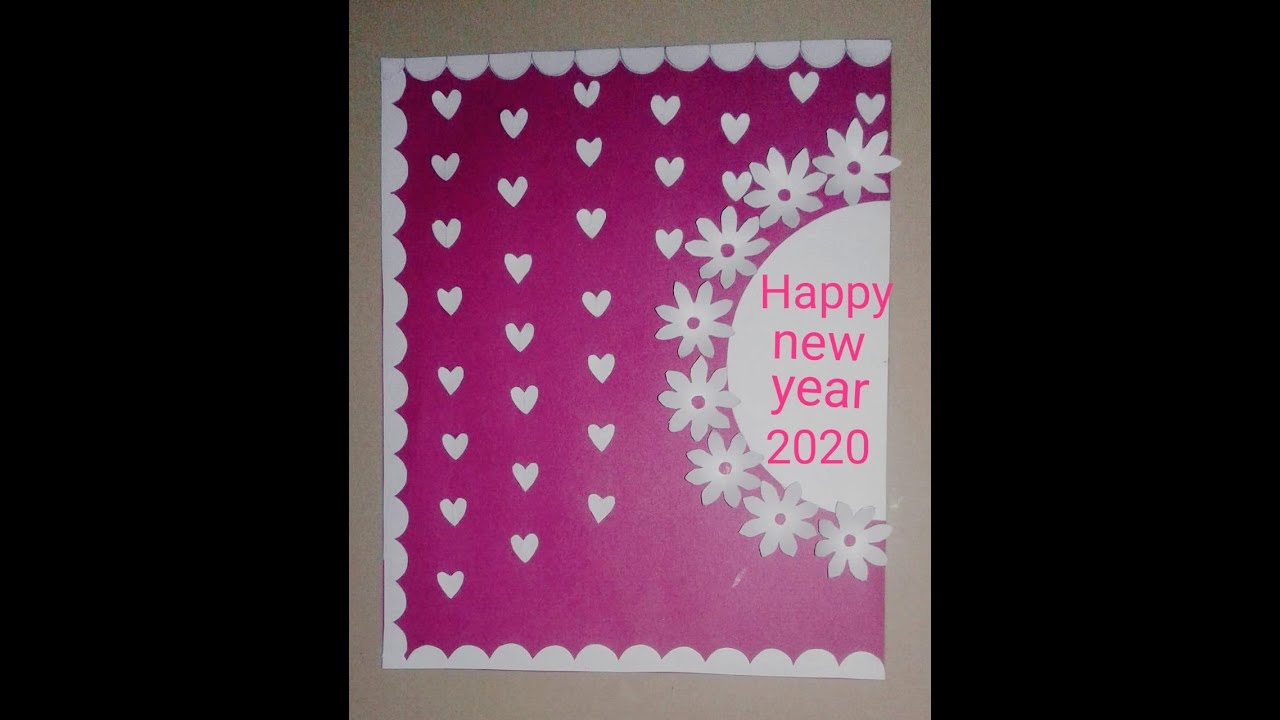 DIY new year greeting card craft | How to make greeting ...